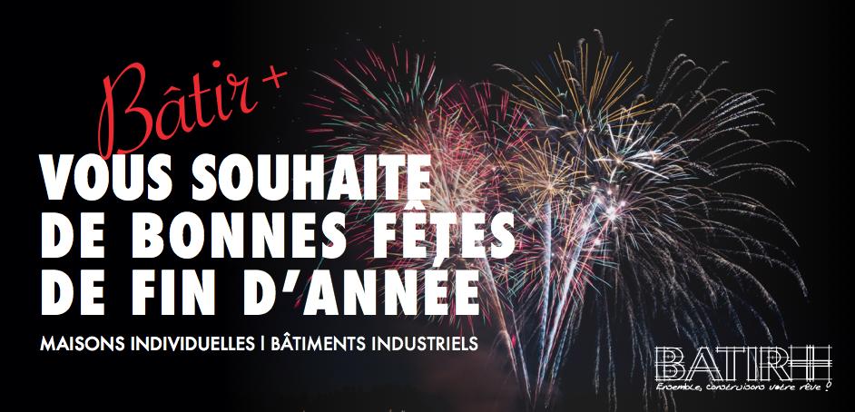 Bâtir+, cabinet de maîtrise d'oeuvre en Lorraine vous souhaite une bonne année